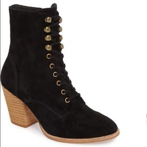 NEW Jeffrey Campbell Elman Lace Up Suede Booties